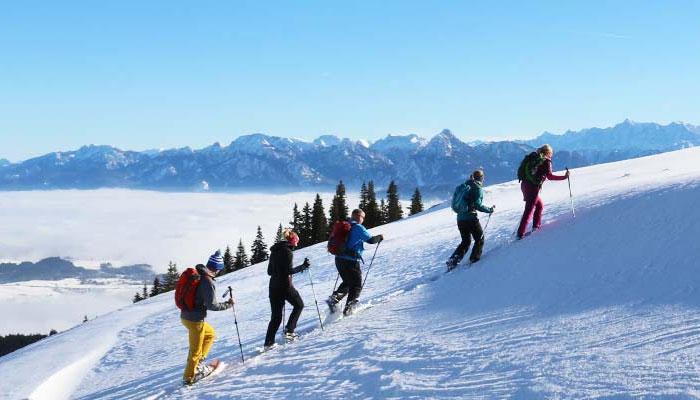 Schneeschuhwandern Allgäu Und Schneeschuhtouren Allgäu